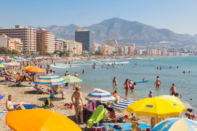 Fuengirola, Costa del Sol, Malaga Province, Andalusia, Spain. Beach.