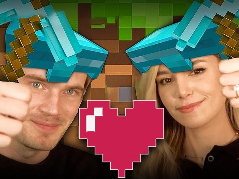 PewDiePie and Marzia Bisognin begin married bliss with Minecraft video as fans demand wedding re-enactment