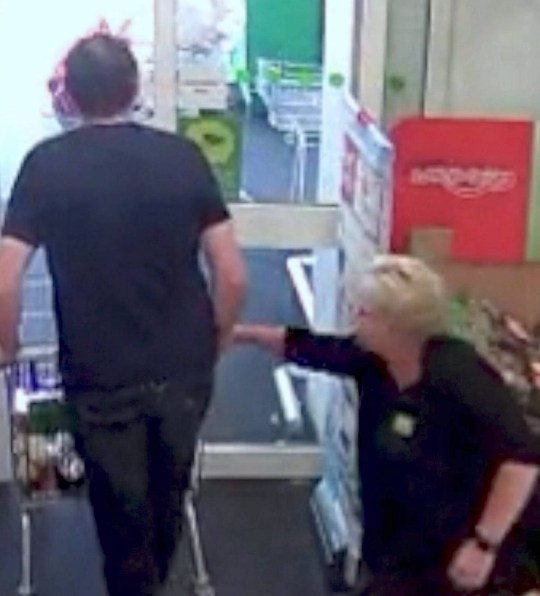 Dated: 21/08/2019 Sequence 2 of 6 Brazen thief Richard Pope attempts to wheel a trolley full of stolen goods from an Asda store in Spennymoor, County Durham, before being stopped in his tracks by security guards. Pope received a suspended prison sentence at Newton Aycliffe Magistrates Court after pleading guilty to three counts of theft. See story and VIDEO by North News