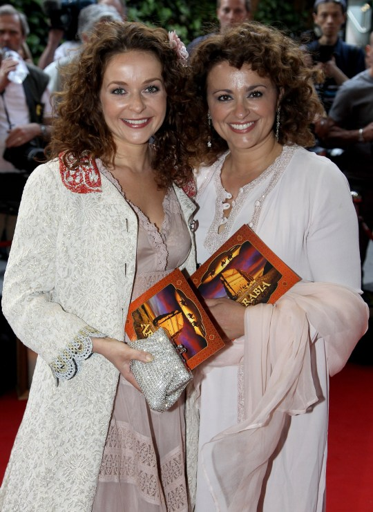 LONDON, ENGLAND - MAY 24: Sisters Julia Sawalha (L) and Nadia Sawalha attend the Royal Premiere of Arabia 3D at London IMAX on May 24, 2010 in London, England. (Photo by Chris Jackson/Getty Images)