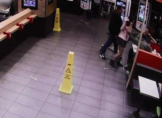 Woman launches savage attack on customer with her heels in McDonald's Picture: Daily Post Wales METROGRAB