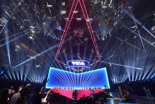 A view of the MTV VMAs stage
