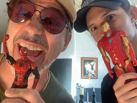 Avengers' Tom Holland and Robert Downey Jr taunt fans with selfies amid Marvel and Sony Spider-Man row