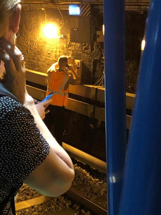 Mums with prams forced to walk down dark tunnel after train breaks down Picture: Basit Bahmood / Metro.co.uk