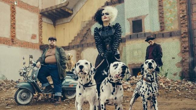 Emma Stone as Cruella de Vil in Disney's Cruella