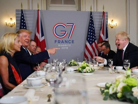 Donald Trump showers praise on Boris Johnson as leaders meet at G7 summit