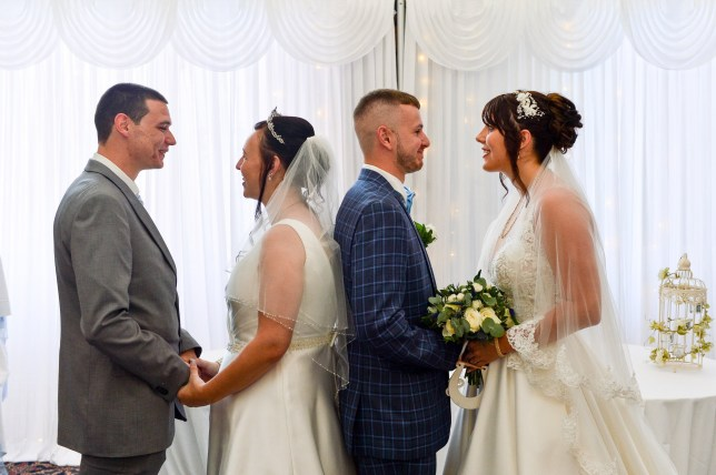 The brother and sister shared their wedding