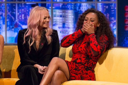 Mandatory Credit: Brian J Ritchie/Hotsauce Editorial Use Only. No Merchandising Mandatory Credit: Photo by Brian J Ritchie/Hotsauce/REX (9970752cf) Emma Bunton, Melanie Brown 'The Jonathan Ross Show' TV show, Series 13, Episode 11, London, UK - 10 Nov 2018 On this week?s episode of The Jonathan Ross Show, Jonathan is joined by iconic girl band, Spice Girls, in a world TV exclusive interview; Pop legend, Kylie Minogue; comedian John Bishop and World No1 tennis player, Novak Djokovic. Singer, Jack Savoretti also performs with Kylie Minogue. Geri Horner, Emma Bunton, Melanie Brown and Melanie Chisholm joined the sofa just days after announcing their comeback and talked to Jonathan about the return of Girl Power. On how they kept their shock comeback a secret, Mel B said: ?I never kept the secret, I just kept on saying we?re definitely going to get back together.? Emma said: ?We just kept telling Melanie [B] that it wasn?t going to happen and then she couldn?t let it out.?