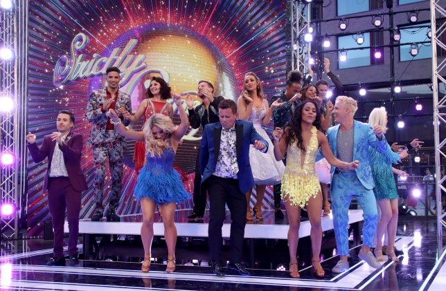 A group shot of the celebrities taking part in Strictly Come Dancing 2019