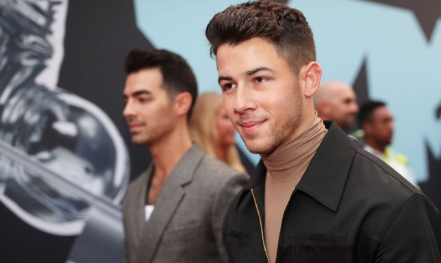 Mandatory Credit: Photo by Christopher Polk/Variety/REX (10369349ed) Jonas Brothers - Joe Jonas and Nick Jonas MTV Video Music Awards, Arrivals, Prudential Center, New Jersey, USA - 26 Aug 2019