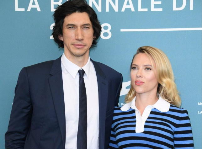 "VENICE, ITALY - AUGUST 29: Adam Driver and Scarlett Johansson attend the ""Marriage Story"" photocall during the 76th Venice Film Festival at Sala Grande on August 29, 2019 in Venice, Italy. (Photo by Daniele Venturelli/WireImage)"