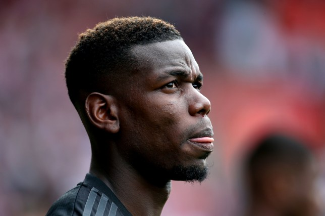 Paul Pogba looks on during Manchester United's draw against Southampton