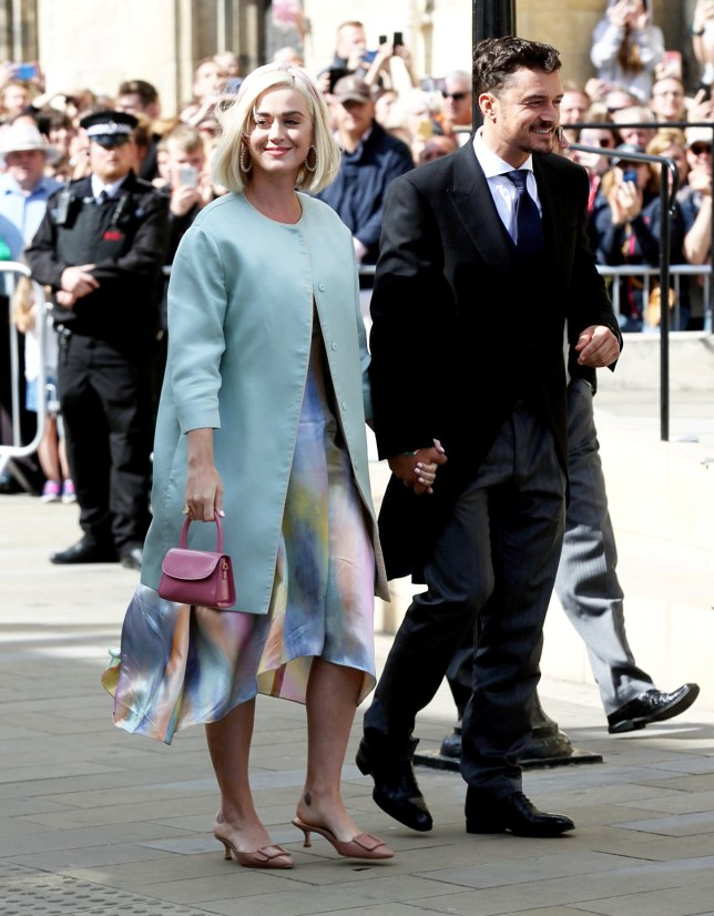 Katy Perry and Orlando Bloom. Popstar Ellie Goulding marries Caspar Jopling at York Minster, York, this afternoon, August 31, 2019, in one of the most high-profile weddings of the year. The 32-year-old singer has exchanged vows with art dealer Caspar Jopling, 27, in a chapel at York Minster before partying at a festival-themed reception in the grounds of the magnificent Castle Howard estate.