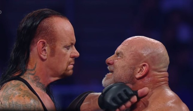 The Undertaker and Goldberg faced each other for the first time at WWE SuperShowdown