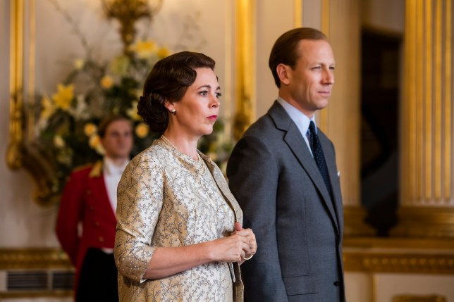 Olivia Colman and Tobias Menzies in The Crown season 3