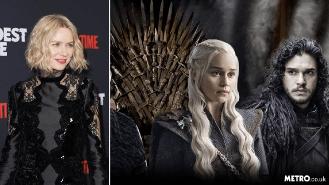 Naomi Watts admits she never watched Game of Thrones until she was cast in the prequel series