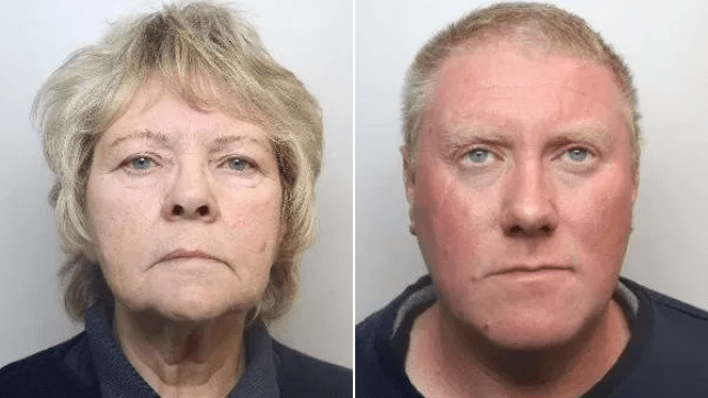 Mum and son jailed for life after murdering runner who crossed onto