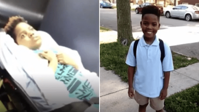 Photo of Jamari Black leaving hospital and picture of youngster before his suicide attempt