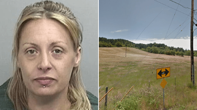 Jennifer Risch and the field she was arrested while doing yoga