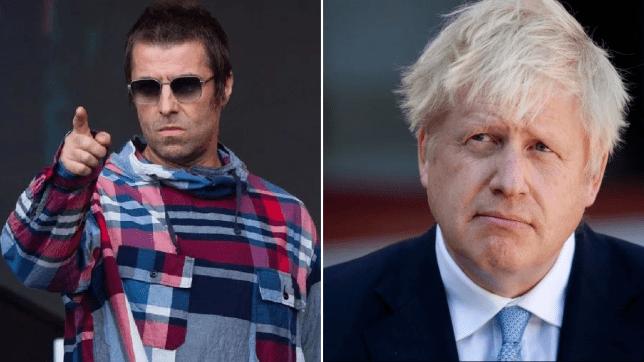 Liam Gallagher and Prime Minister Boris Johnson