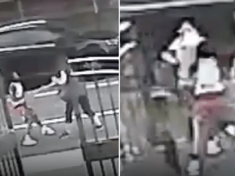 Hateful teens filmed stealing elderly woman's cane then battering her with it