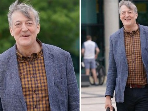 Stephen Fry looks healthy as he opens up about five-stone weight loss after cancer battle: 'I'm proud of myself'