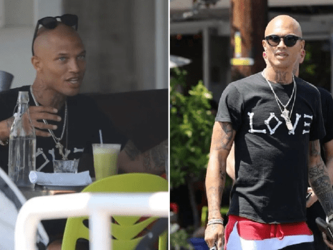 Jeremy Meeks in cheerful spirits on lunch date while claiming he and Chloe Green are 'still together'