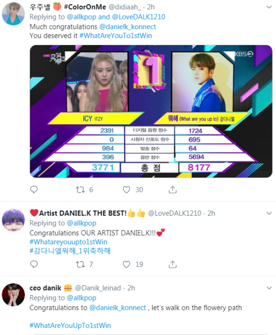 K-Pop singer Kang Daniel wins Music Bank with What Are You Up To