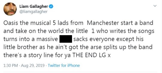 Liam Gallagher calls brother Noel a 'massive c***' over