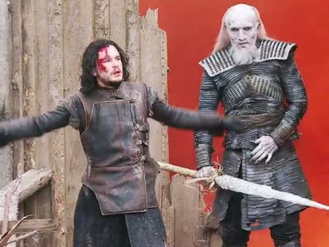 Game of Thrones: The Night King actor Vladimir Furdik shares behind-the-scenes pic of Kit Harington preparing for battle