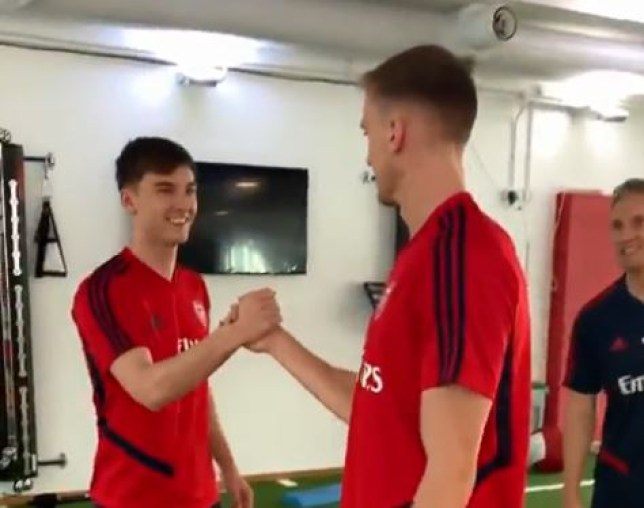 Kieran Tierney completed his move to Arsenal from Celtic on transfer deadline day