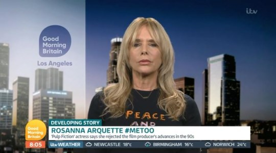 Roseanna Arquette on GMB