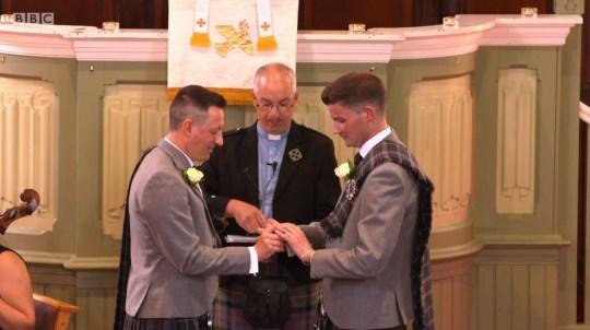 Gay wedding on Songs Of Praise