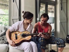 Harry Potter stars Emma Watson and Tom Felton reunite for guitar lessons