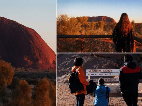 Tourists swarm over Ayer's Rock ahead of ban against climbing