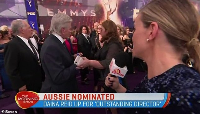 Watch the moment an Australian journalist gets snubbed by Michael Douglas at the Emmys