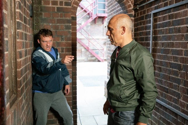 Paul confronts Kel in Coronation Street