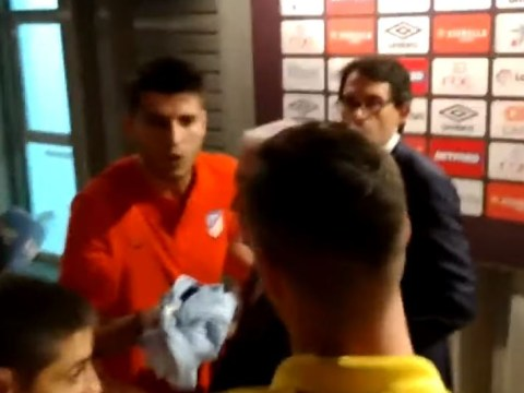 Alvaro Morata furious after red card in Atletico Madrid's win vs Mallorca