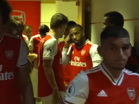 Alexandre Lacazette gave Sokratis half-time pep talk after mistake in north London derby