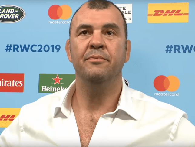 Michael Cheika was seething after Australia's defeat to Wales