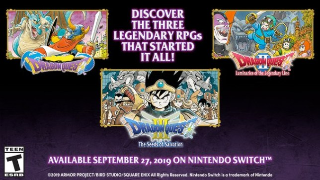 The original Dragon Quest trilogy is coming to Nintendo Switch in September