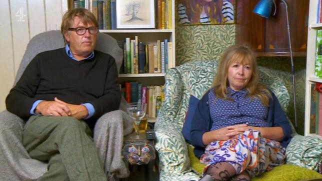 Giles Wood and Mary Killen on Gogglebox