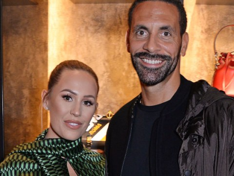 Rio Ferdinand and Kate Wright cement couple goals status with newlywed balloons