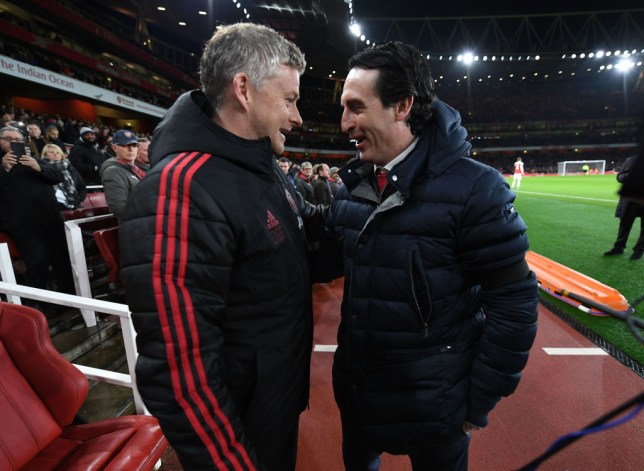 Unai Emery's Arsenal face Ole Gunnar Solskjaer's Manchester United on Monday