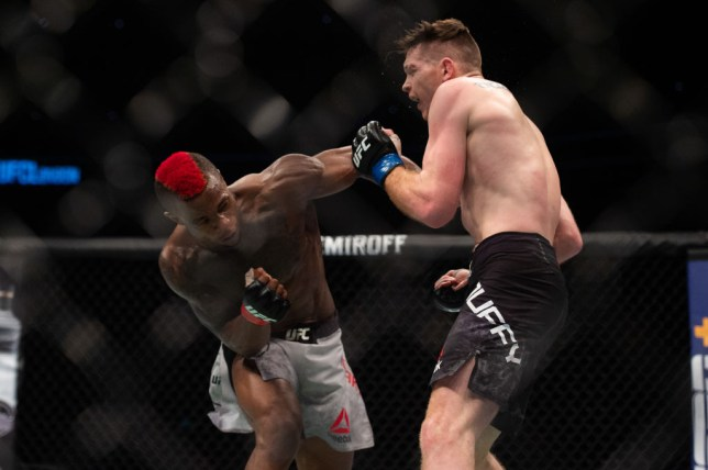 Marc Diakiese fights Joe Duffy during UFC Fight Night 147 at the London O2 Arena, Greenwich on Saturday 16th March 2019. (Photo by Pat Scaasi/MI News/NurPhoto via Getty Images)