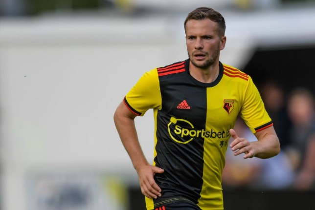 Tom Cleverley in action for Watford against Arsenal