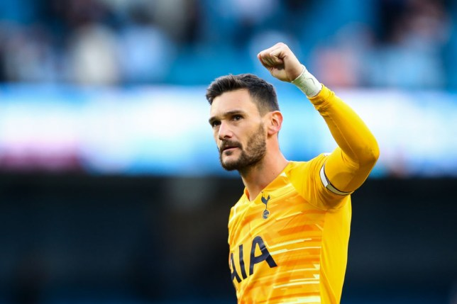 Hugo Lloris salutes the Tottenham fans after his side's 2-2 draw against Manchester City