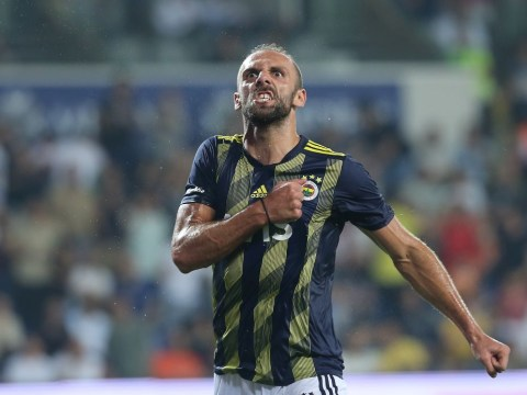 Man Utd and Tottenham scout Fenerbahce striker Vedat Muriqi on international duty