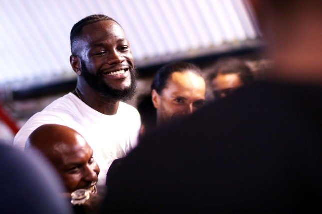 LONDON, ENGLAND - JULY 26: Deontay Wilder poses for photos during a Media Access at Fitzroy Lodge Gym on July 26, 2019 in London, England. (Photo by Jack Thomas/Getty Images)