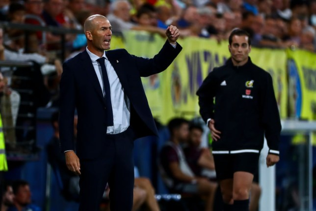 Head coach of Real Madrid Zinedine Zidane